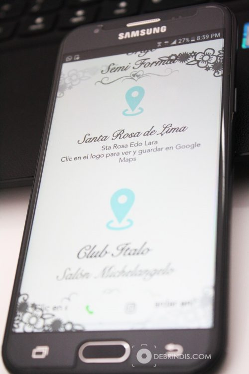Celular invitacion